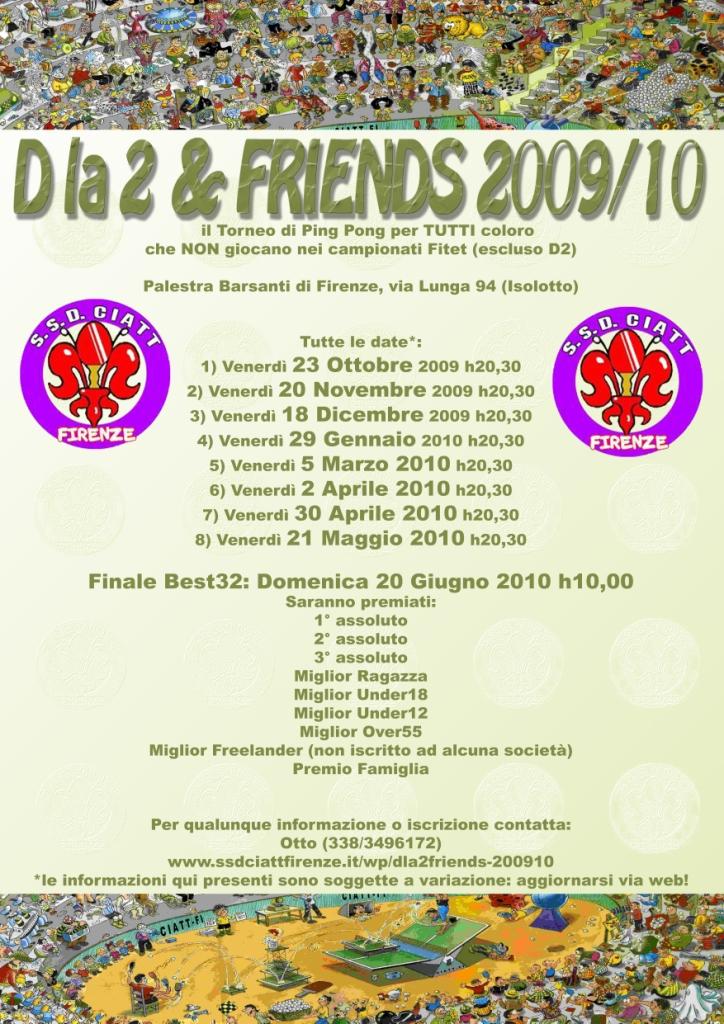 Manifesto Generale Tornei Dla2&Friends 2009/10