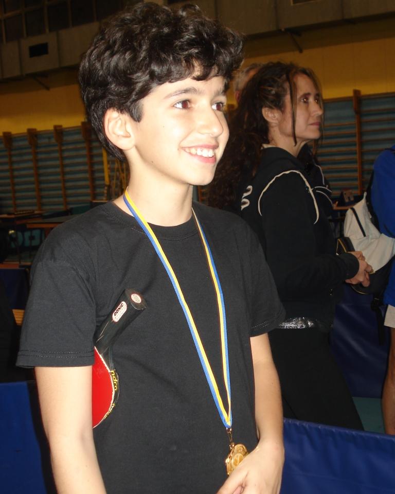 Il tredicenne Quaranta Massimiliano (Artigianelli) vince il premio Under13