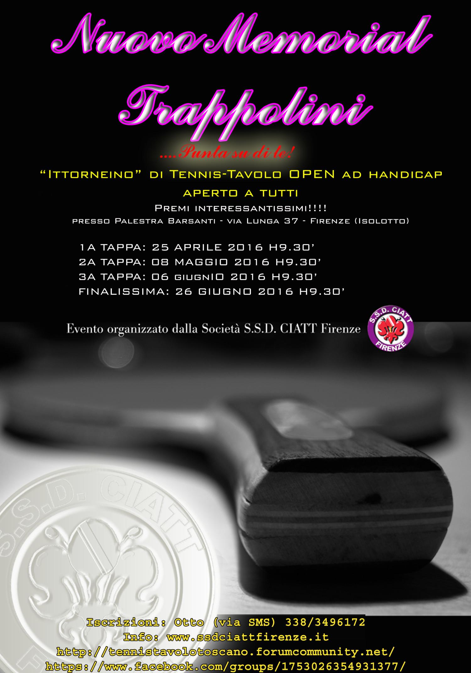 Manifesto Nuovo Memorial Trappolini
