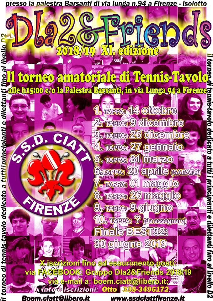 Ssd ciatt firenze club italia amici del tennis tavolo - Tavolo n 19 streaming ...